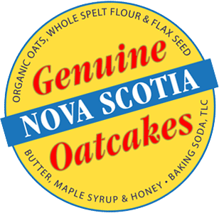 Genuine Nova Scotia Oatcakes sticker